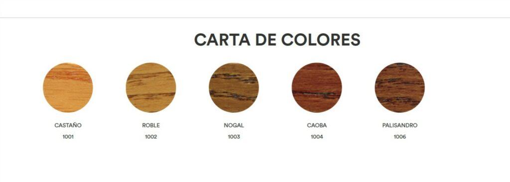 CARTA DE COLORES BARNIZ ECO 1 1