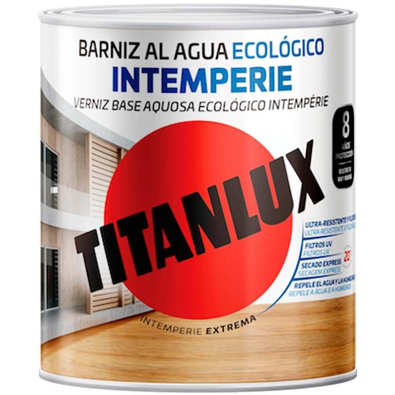 barniz intemperie al agua ecologico brillante o satinado titanlux barnizar maderas